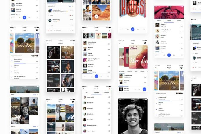 Vera Block - Free UI Kit for Sketch and Photoshop