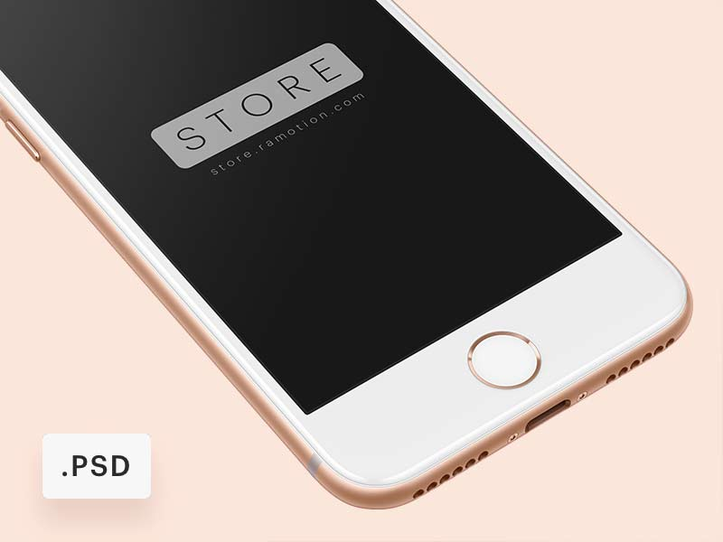 iPhone 8 - Free PSD Mockup
