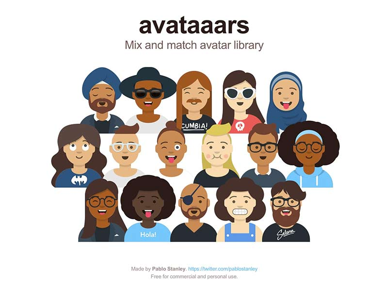 Avataaars - Avatar Illustrations Sketch Library
