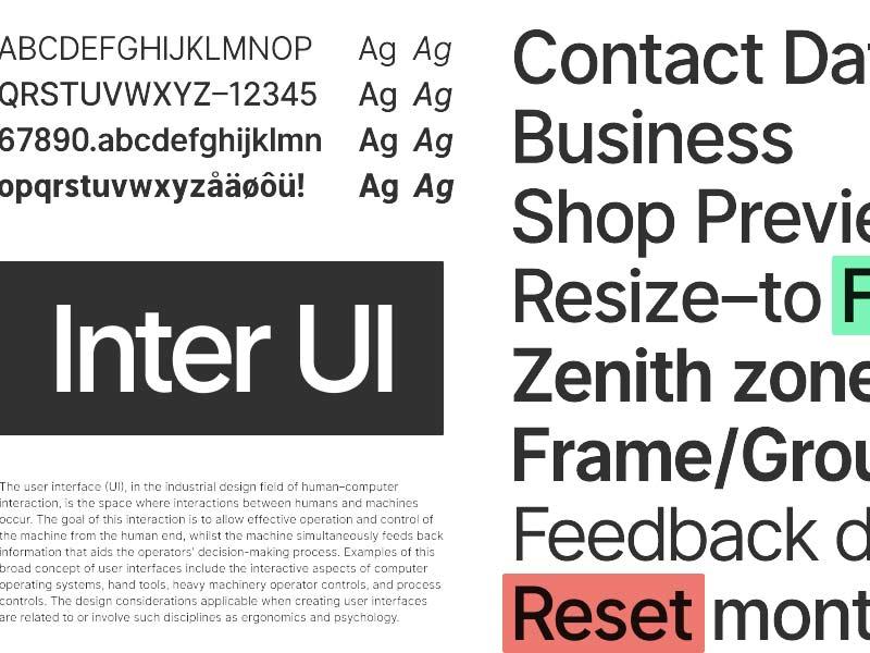 Inter UI - Free Font