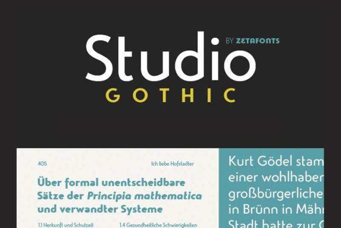 Studio Gothic - Free Font