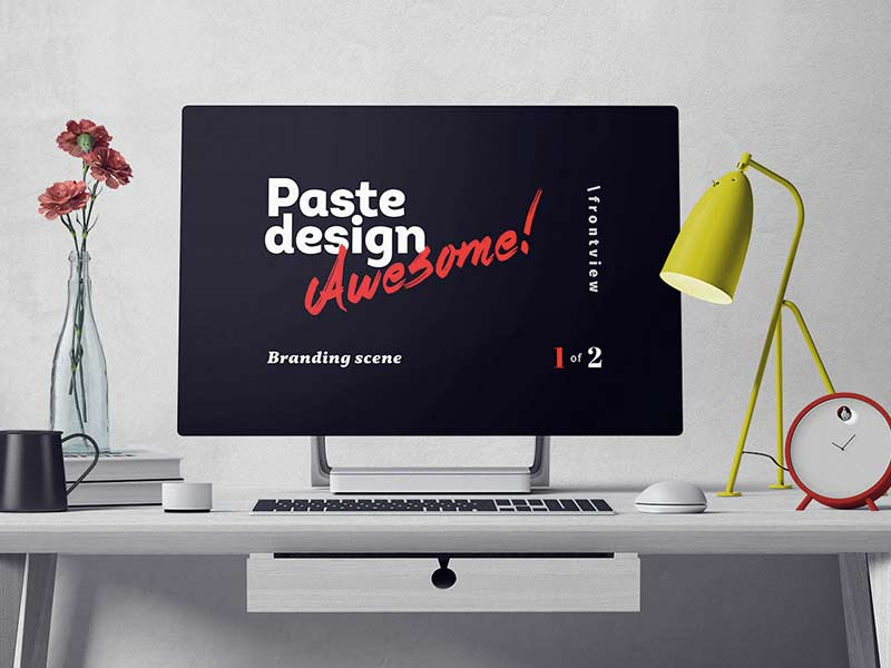 Surface Studio Mockup - Free PSD