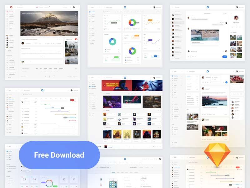 8 Diverse Interfaces - Sketch Freebie