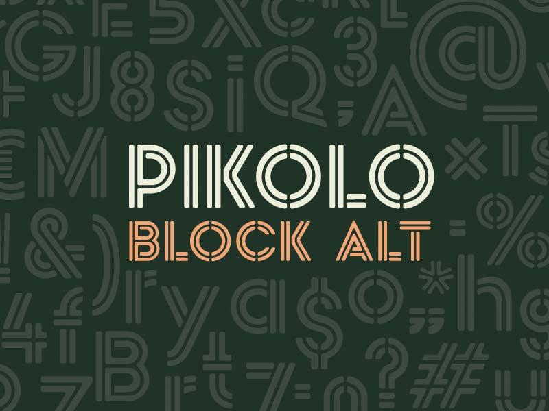 Pikolo Block Alt - Free Font