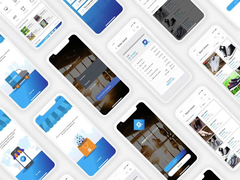 eCommerce Mobile App UI Kit for Adobe XD | DesignerMill