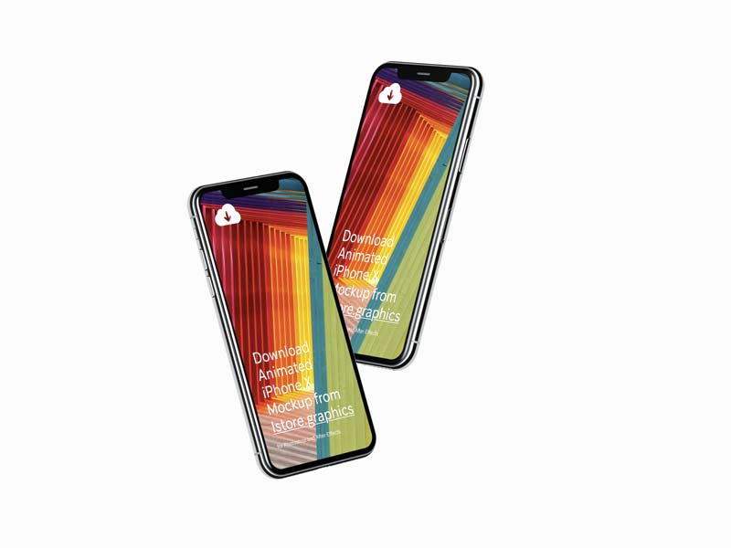 iPhone X - 4K Mockups for Photoshop and Sketch
