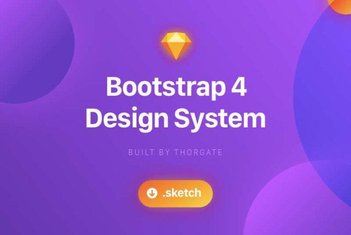 Bootstrap 4 Design System for Sketch