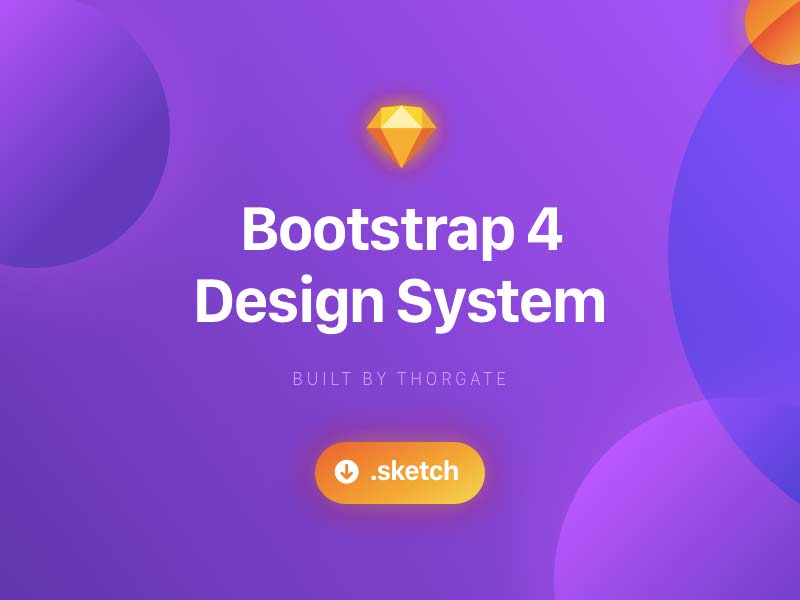 Bootstrap 4 Design System for Sketch
