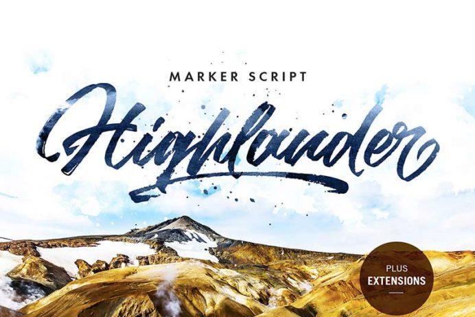 Highlander Marker Script - Free Font