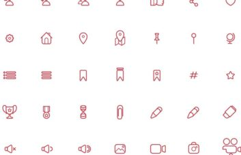Free 200 Icons for Adobe Illustrator