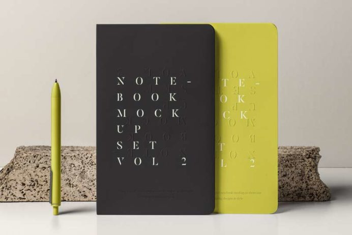 Notebook Mockup - Free PSD