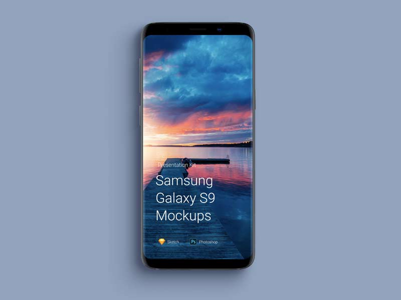 Samsung Galaxy S9 Mockups for Sketch and Photoshop