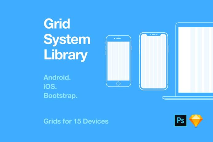 Grid System Library for Sketch and Photoshop
