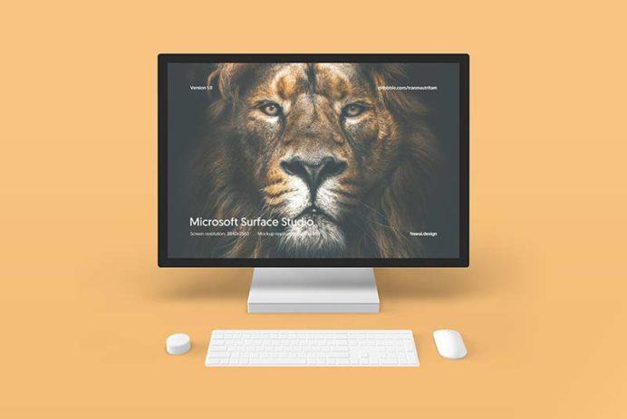 Microsoft Surface Studio - Free PSD Mockup