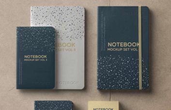 Notebook Set - Free PSD Mockup