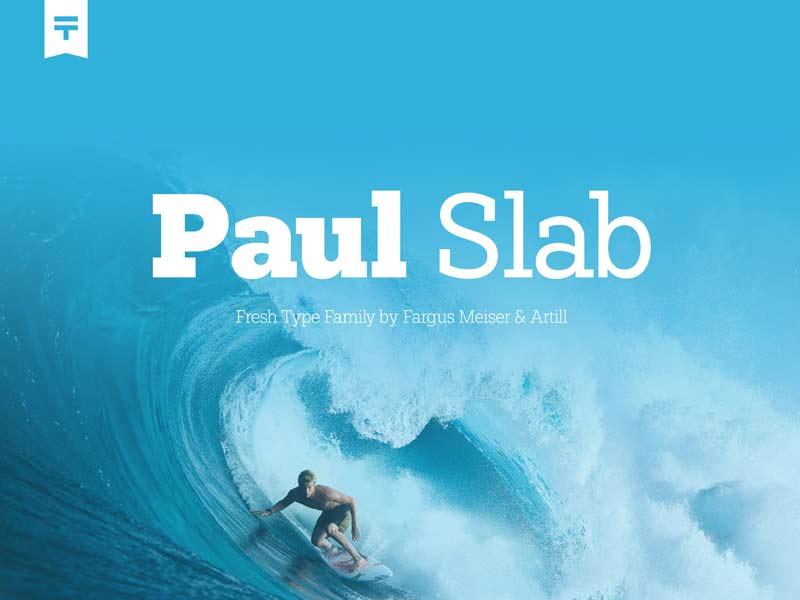Paul Slab - Free Font