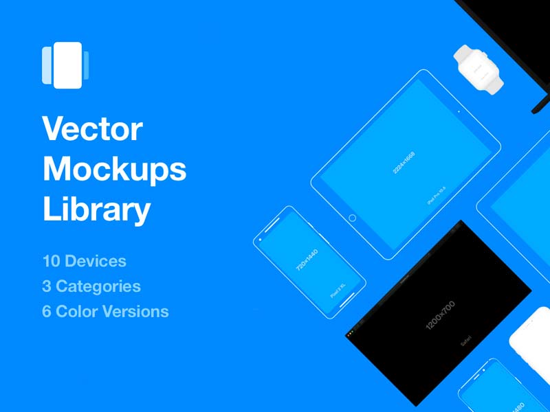 Vector Mockup Library for Sketch and Photoshop