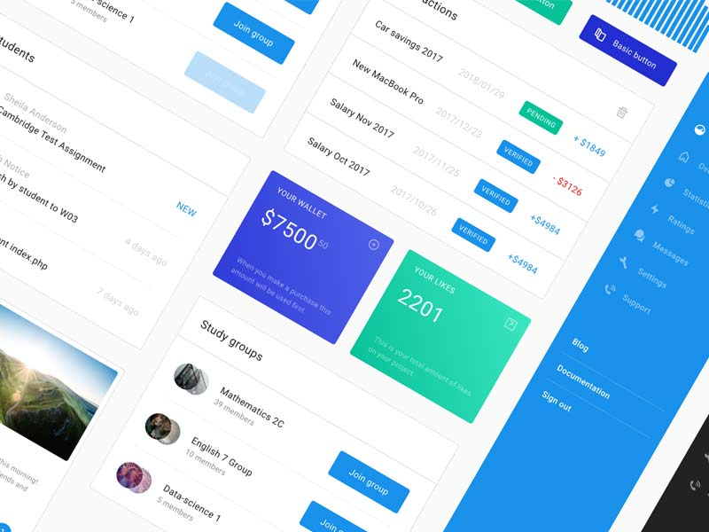 Web App UI Kit for Sketch