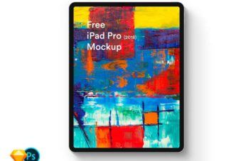 iPad Pro (2018) Free Sketch and PSD Mockup