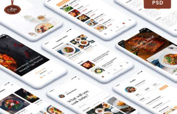 Recipe App - Free PSD UI Kit