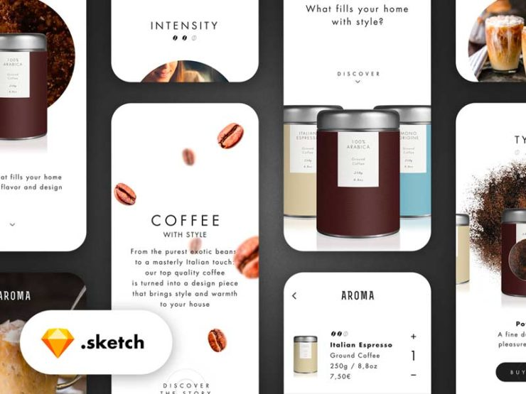 Coffee Purchase Experience - Free Sketch File