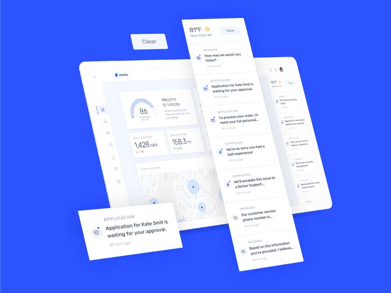 Velocity - Dashboard UI Kit
