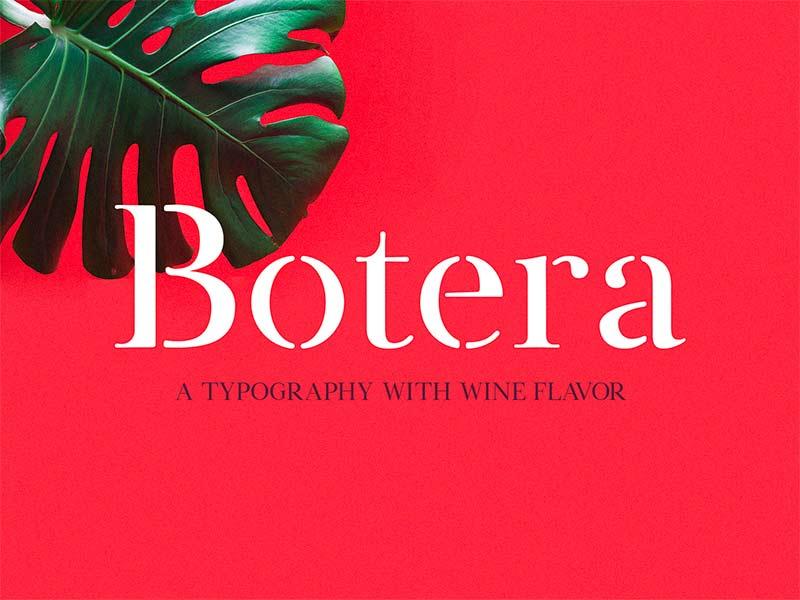 Botera - Free Stencil Font