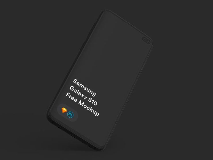 Free Samsung Galaxy S10 Mockup for Photoshop and Sketch