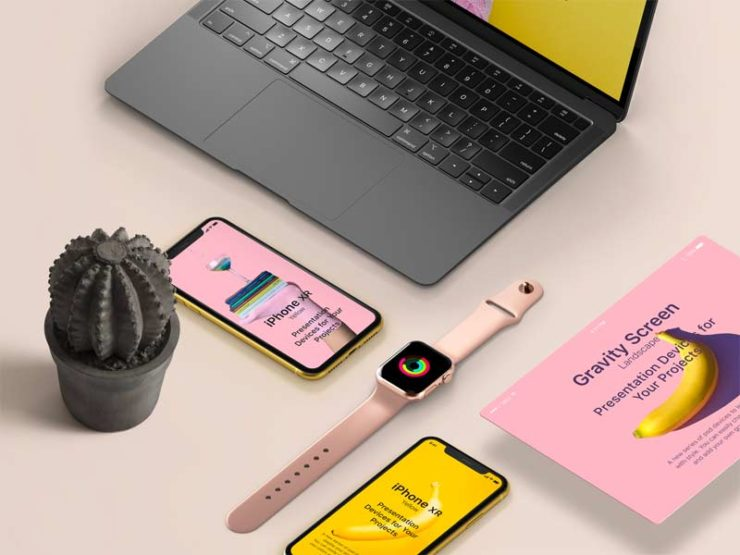 Project Devices Showcase - Free PSD Mockup
