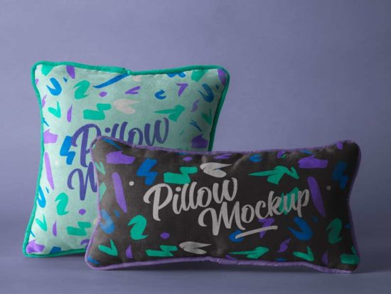 Throw Pillow - Free PSD Mockup