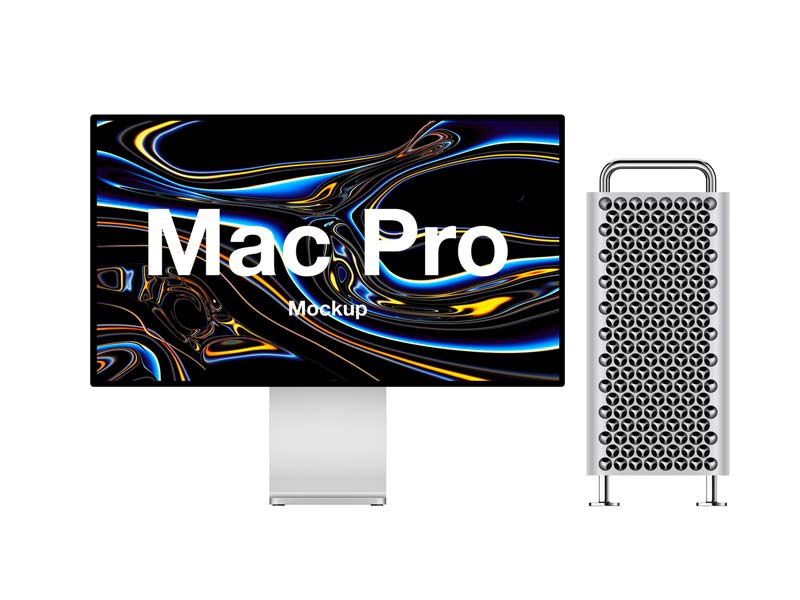 Mac Pro Free Mockup for Photoshop, Figma and Sketch