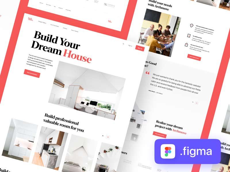 Archmove - Free Architecture Marketplace Landing Page